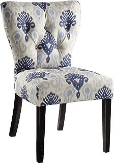 blue ikat chair