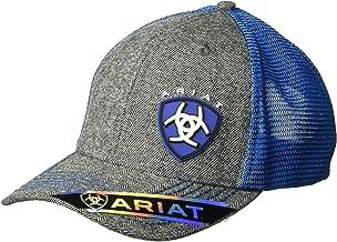 ARIAT Men's Gray Heather Blue Shine Mesh Snap Back Hat