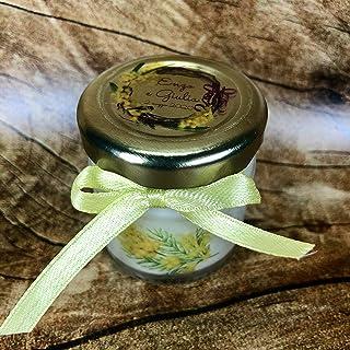 Mimosa 5 mini candele profumi misti in vasetto con tappo personalizzato Segnaposto matrimonio comunione battesimo idea reg...