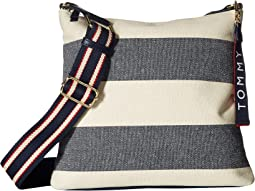 Classic Tommy Large North/South Crossbody Woven Rugby