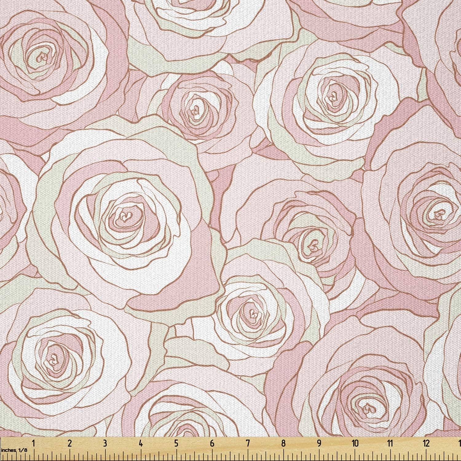 Special Campaign New Shipping Free Ambesonne Floral Fabric by The Tone Modern Yard Continuing Soft