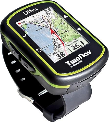 Twonav Ultra Montre GPS + capteur de Cadence Mixte Adulte, Noir Vert