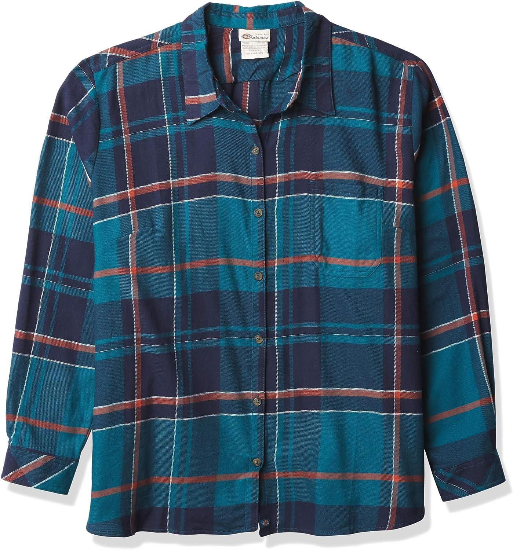 Dickies Women's 5 ☆ popular Max 69% OFF Long-Sleeve Flannel Shirt Plaid