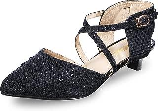 Women's INI Abby Sequins Kitten Heels Ankle Strap Bridal...