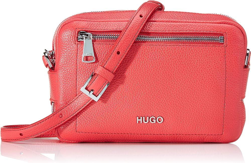 Hugo boss,borsa a tracolla per donna in vera pelle MAIDEN CROSSBODY 10224014 01
