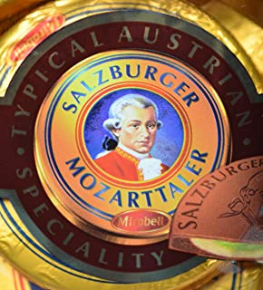 Mozart Coins Chocolate, 14 Pieces with Total 280 Grams, Mirabell Salzburg