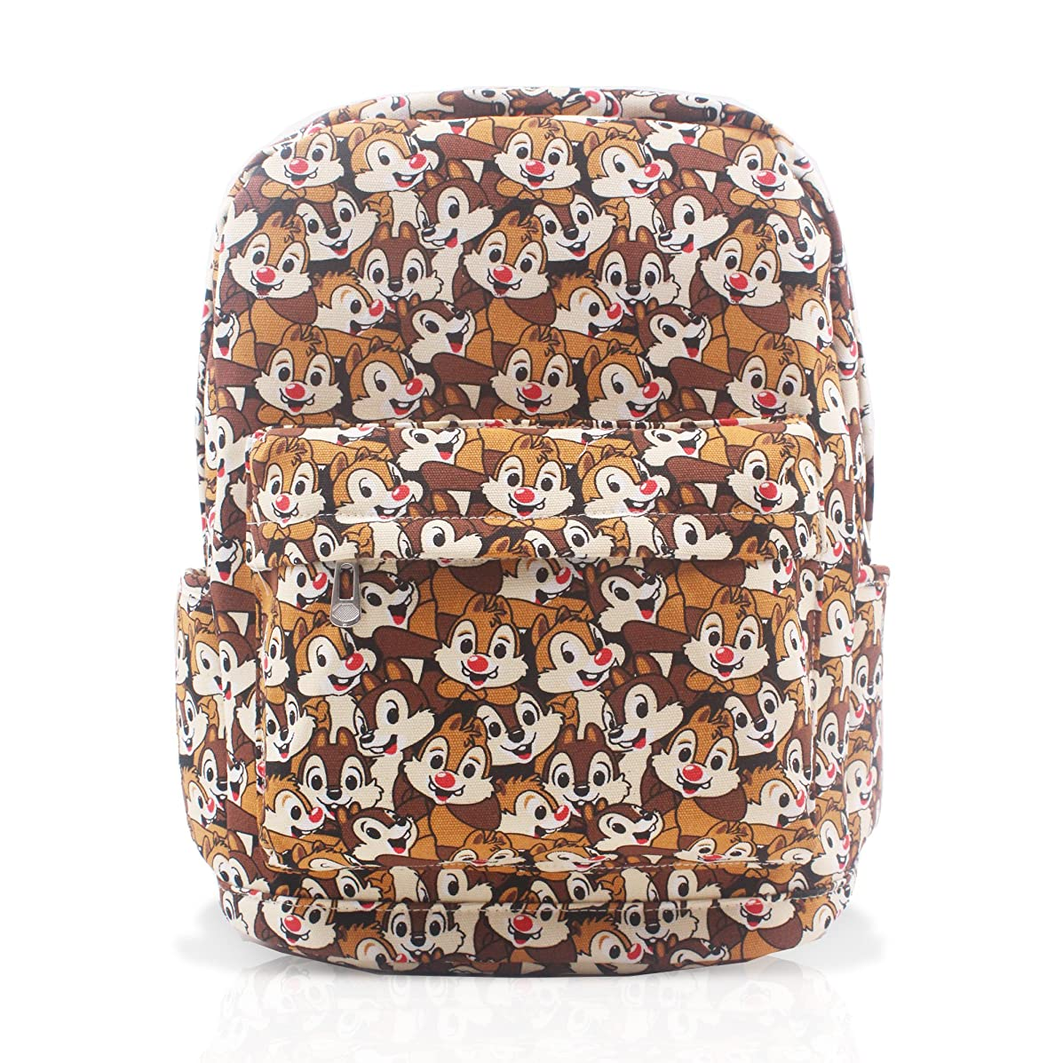 FINEX Chip and Dale Brown Canvas Cute Cartoon Casual Backpack with 15 inch Laptop Storage Compartment for College Daypack Travel Snack Sport Bag Gift