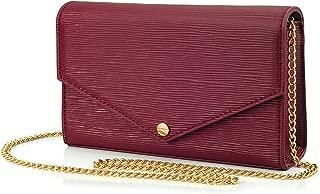 Envelop Evening Clutch Faux Suede Leather Women Chain Cross Body Bag