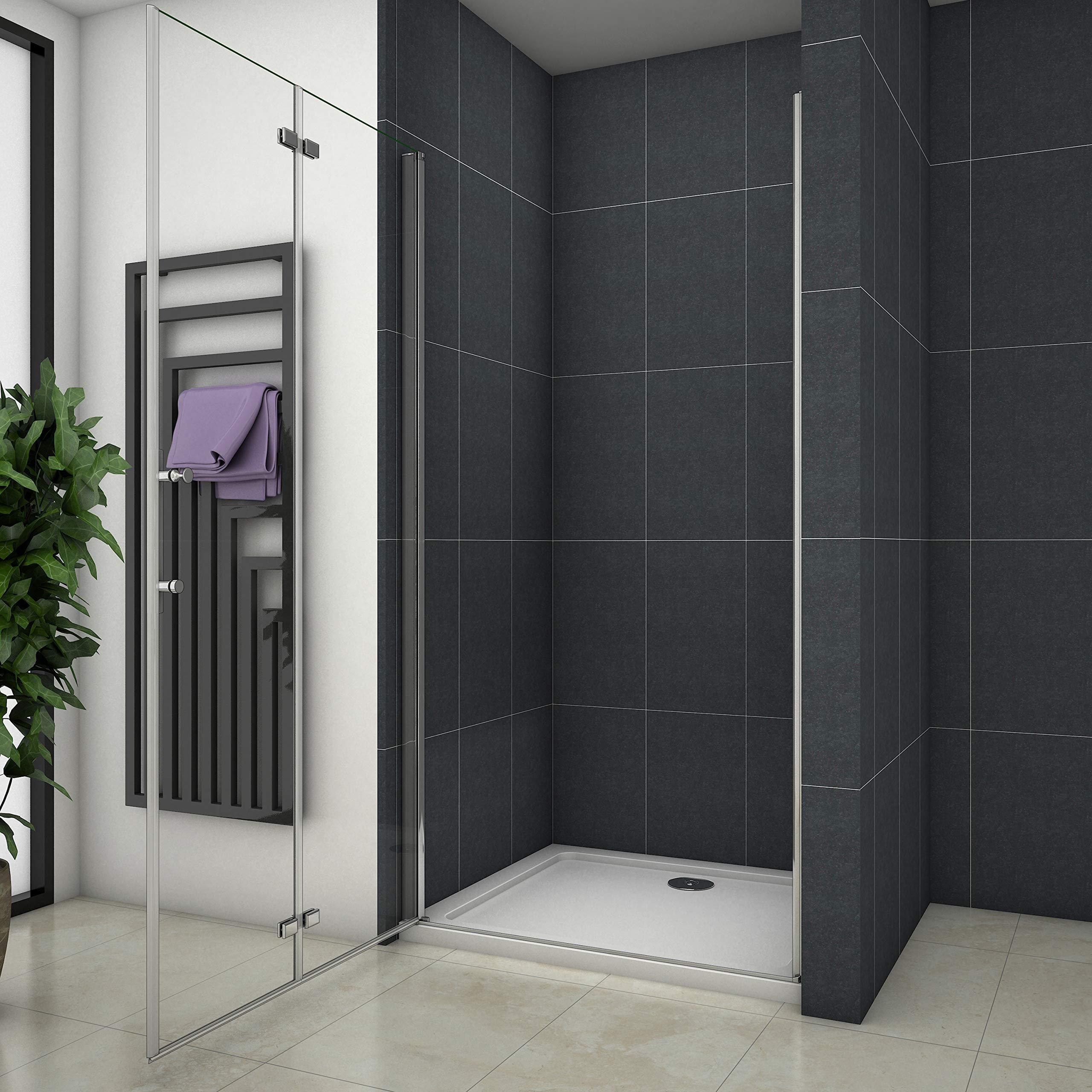 Mampara de ducha Apertura de Puerta Plegable Antical 100x195cm: Amazon.es: Bricolaje y herramientas