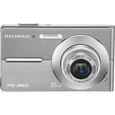 Olympus FE360 8MP Digital Camera with 3x Optical Dual Zoom (Silver)