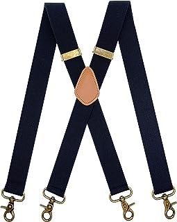 آویز آویز مردانه AYOSUSH 4 قلاب ضربه محکم و ناگهانی برای حلقه های کمربند قابل تنظیم X برگشت