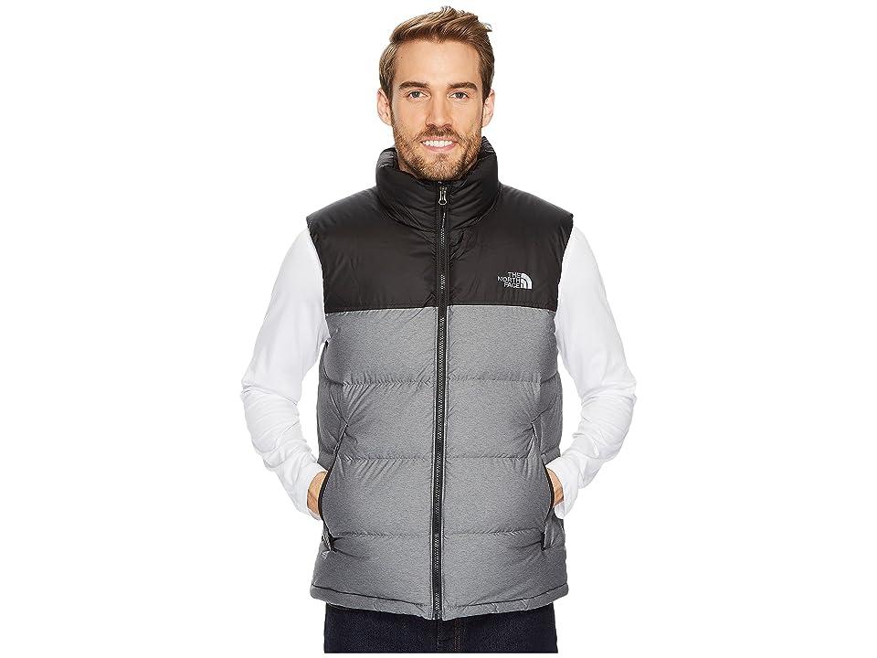 The North Face Nuptse Vest (TNF Medium Grey Heather/TNF Black 1) Men