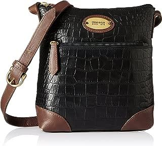 Hidesign Women's Sling Bag (Black Tan)