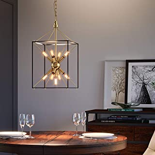 Artika CLY1-C2 Clyde Chandelier, Black and Gold