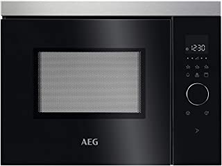 AEG Microondas empotrable MBB1755DEM de 50 cm, funcionamiento táctil, función grill, pantalla con reloj