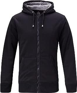 Men's Fleece Lined Hoodie Sweatshirt Casual Solid with Split Kangaroo Pocket
