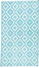 Bersuse GOTS-Certified 100% Organic Cotton Barbados Turkish Towel Peshtemal with Hidden Zipper Pocket - 37X70 Inches, Aqua...