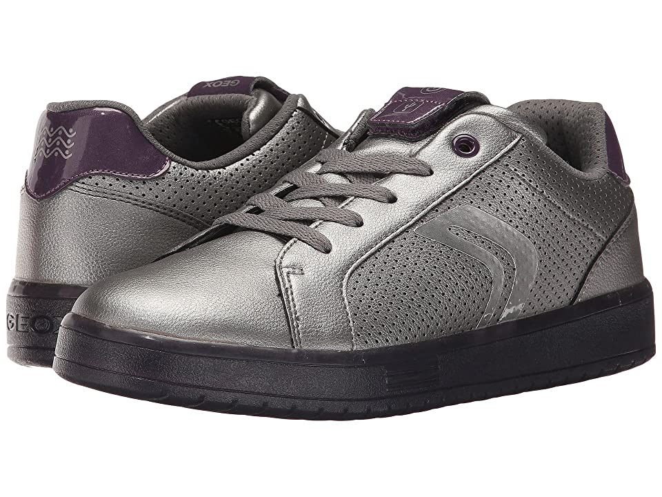 Geox Kids JR Kommodor Girl 2 (Big Kid) (Dark Silver/Prune) Girl