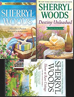 Sherryl Woods, 3 book combo: Destiny Unleashed; Home at Rose Cottage; Miss Liz's Passion