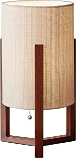 Adesso 1502-15 Quinn Table Lantern, 17 in, 60 W Incandescent/CFL, Walnut Birch Wood, 1 Wooden Lamp