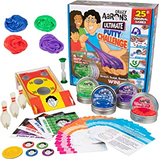 Crazy Aaron's Ultimate Putty Challenge Board Game - 25 Ways to Play and Four Exclusive 3