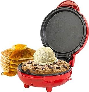 Giles & Posner® EK4215G Kompakt mini snacksgrill   550 W   11,5 cm tallrik   röd   göra pannkakor, hamburgare, kakdeg med ...