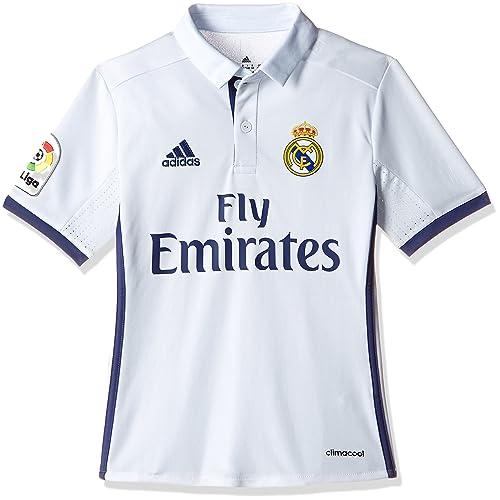 adidas Real Madrid H Jsy Y - Camiseta Real Madrid 2016 2017 para Niños 59183c7328985