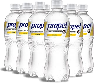 Propel, Lemon, Zero Calorie Sports Drinking Water with Electrolytes and Vitamins C&E, 16.9 Ounce Bottles (Pack of 12), 16....
