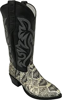 Cowtown Rattlesnake Pointed Toe Exotic Western Cowboy Boot