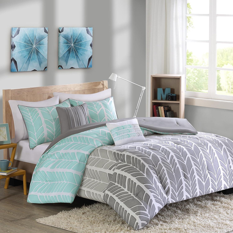Intelligent Design ID10-748 Comforter Set, Full Queen, Aqua