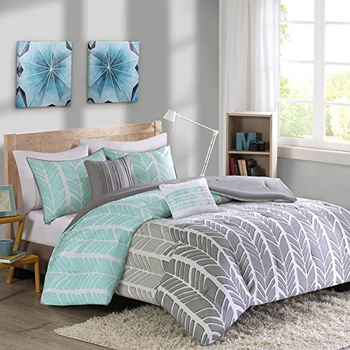 Perfect Intelligent Design Adel Comforter Set Aqua Full/Queen