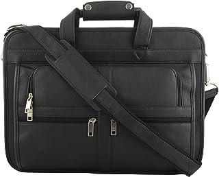 O.K.Leather Men's Bag for Laptop/ Travelling/ Messenger purpose (Black)
