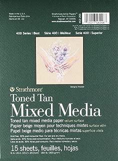 Strathmore 462-206 400 Series Toned Tan Mixed Media Pad, 6