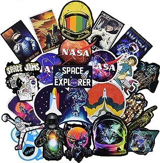 NASA Stickers for Laptop [100PCS], Space Explorer Galaxy Vinyl Decals for Water Bottle Hydro Flask MacBook Car Bike Bumper Skateboard Luggage, Spaceman Spacecraft Universe Planet Logo Graffiti Sticker
