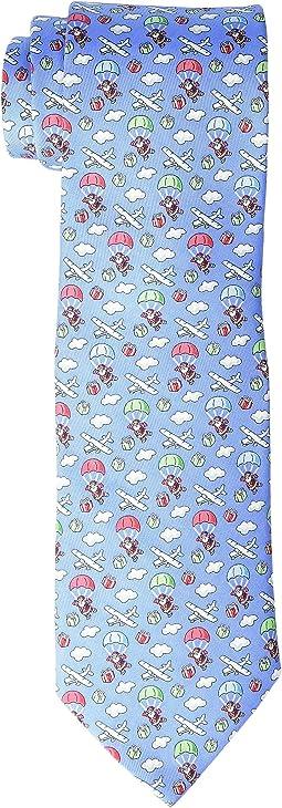 Skydiving Santa Printed Tie