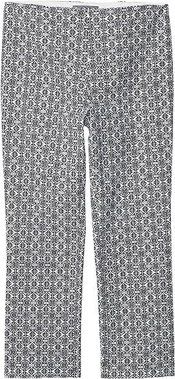 Tile Prints Invisible Zipper Ankle Pants