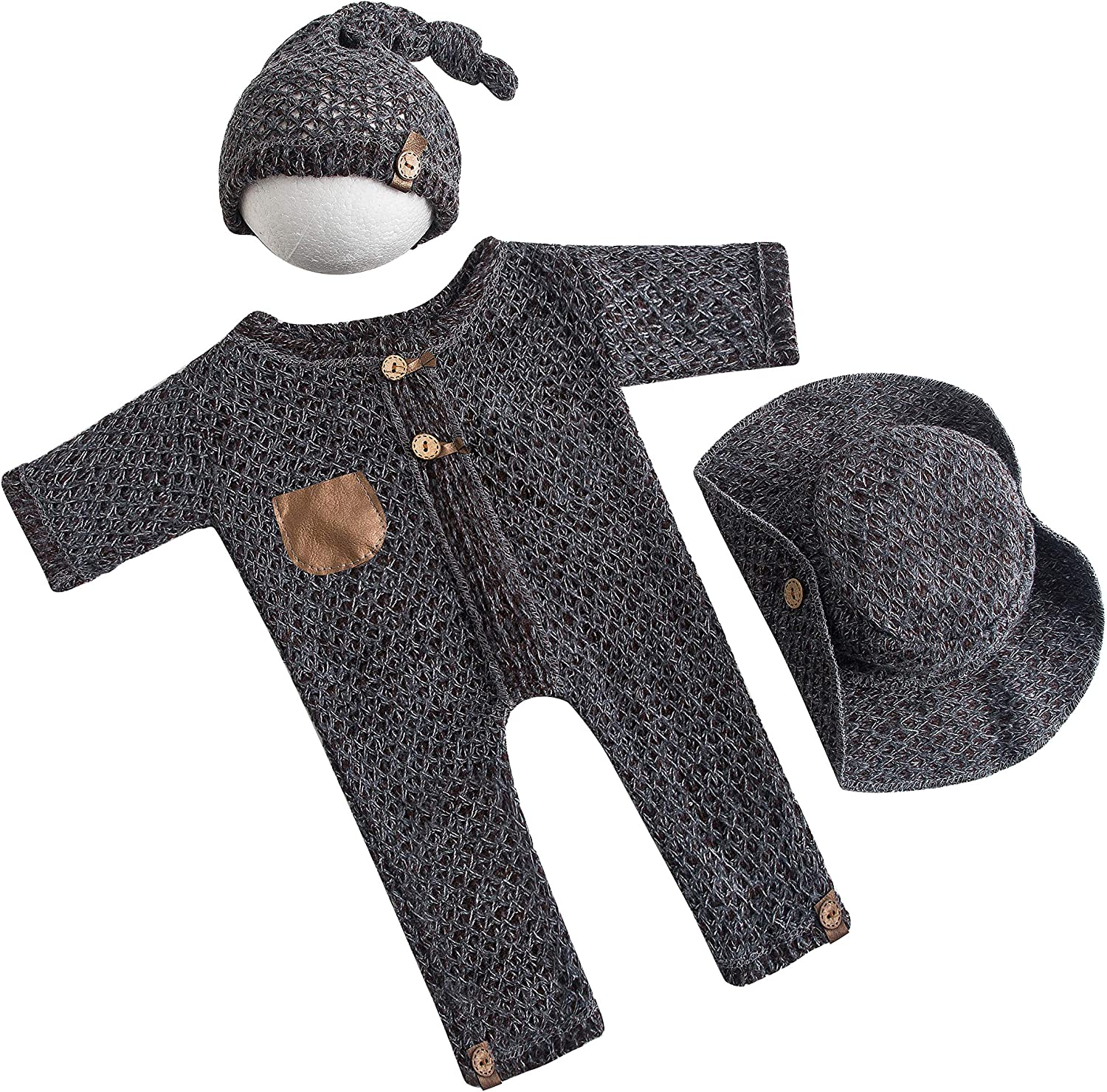 Newborn Photo 5 popular Props Outfits Baby NEW before selling ☆ Outfit Boy Knit Phot Prop