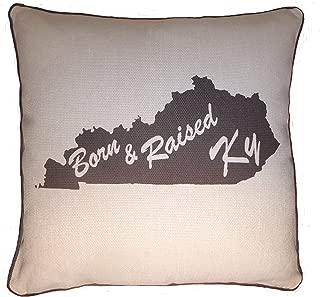 Throw Pillow Decorative Burlap Gift Cushion State Silhoutte Kentucky