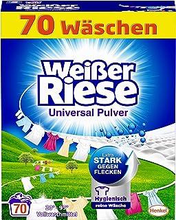 Weißer Riese Uniwersalny proszek (70 prań), środek piorący do pełnego środka piorącego, bardzo skuteczny przeciwko plamom,...