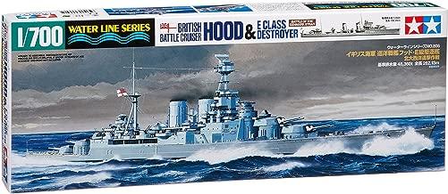 British Battle Cruiser Hood & E Class Destroyer - 1:700 Scale Ships - Tamiya