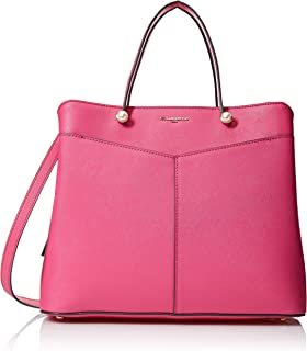 Karl Lagerfeld Paris Fiona Triple Entry Satchel, Bright Fuchsia