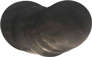 OSVINO Set de 5 Tapis Cuission Barbecue Professionnel Rond Noir diamètre 40cm Antiadhésif Téflon Fibre de Verre Feuille Pa...