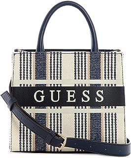 Guess Monique Mini Tote Bag Blue Stripe