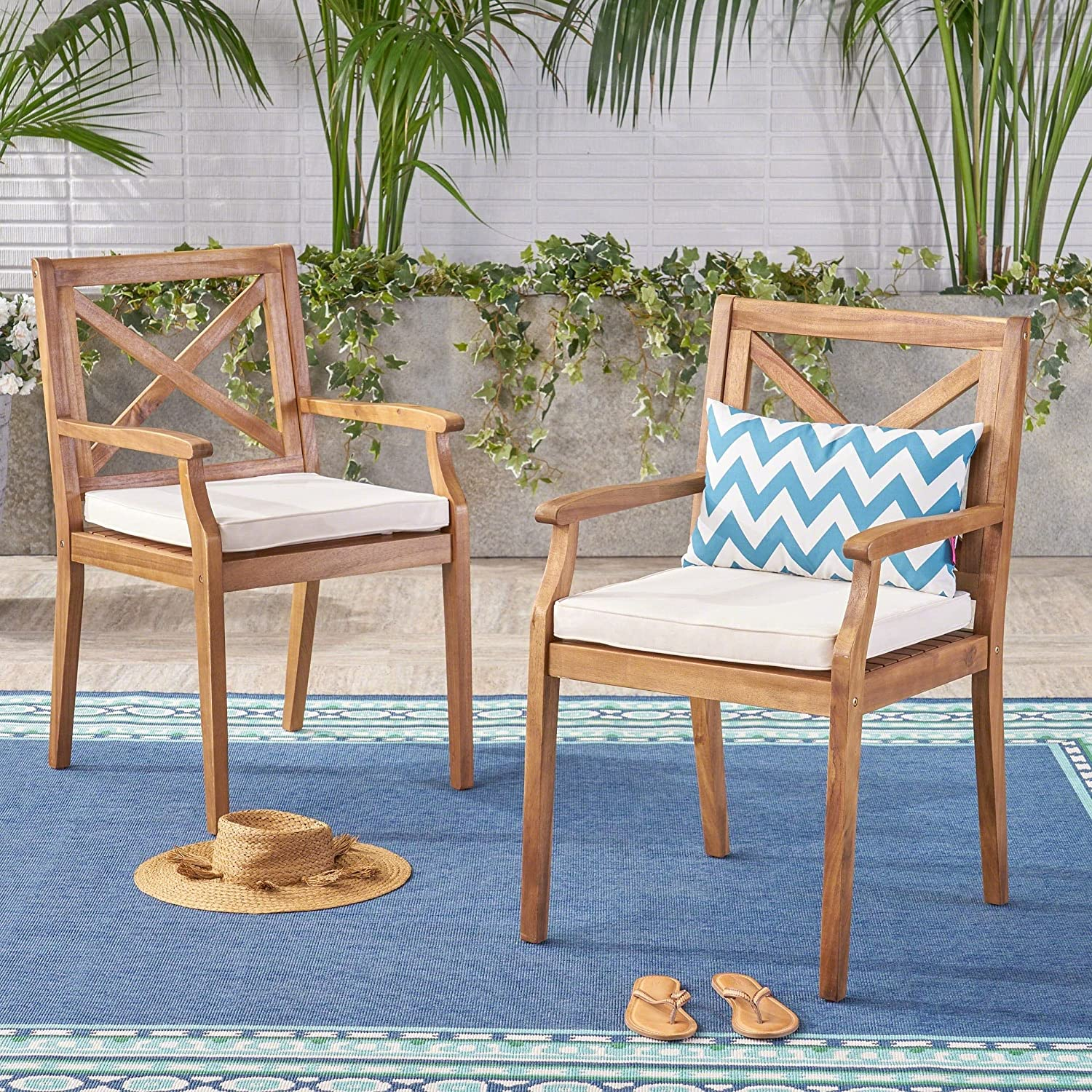 Christopher Knight Home Perla Outdoor Wood Chair Acacia Regular discount Dining Special price