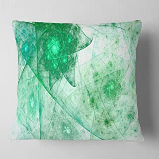Designart Clear Green Rotating Polyhedron' Abstract Throw Cushion Pillow Cover for Living Room, sofa 18 in. x 18 in