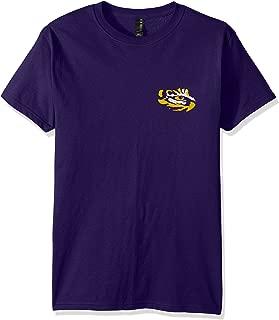 NCAA LSU Tigers Adult NCAA Stripe Nation Short Sleeve, Purple, Medium