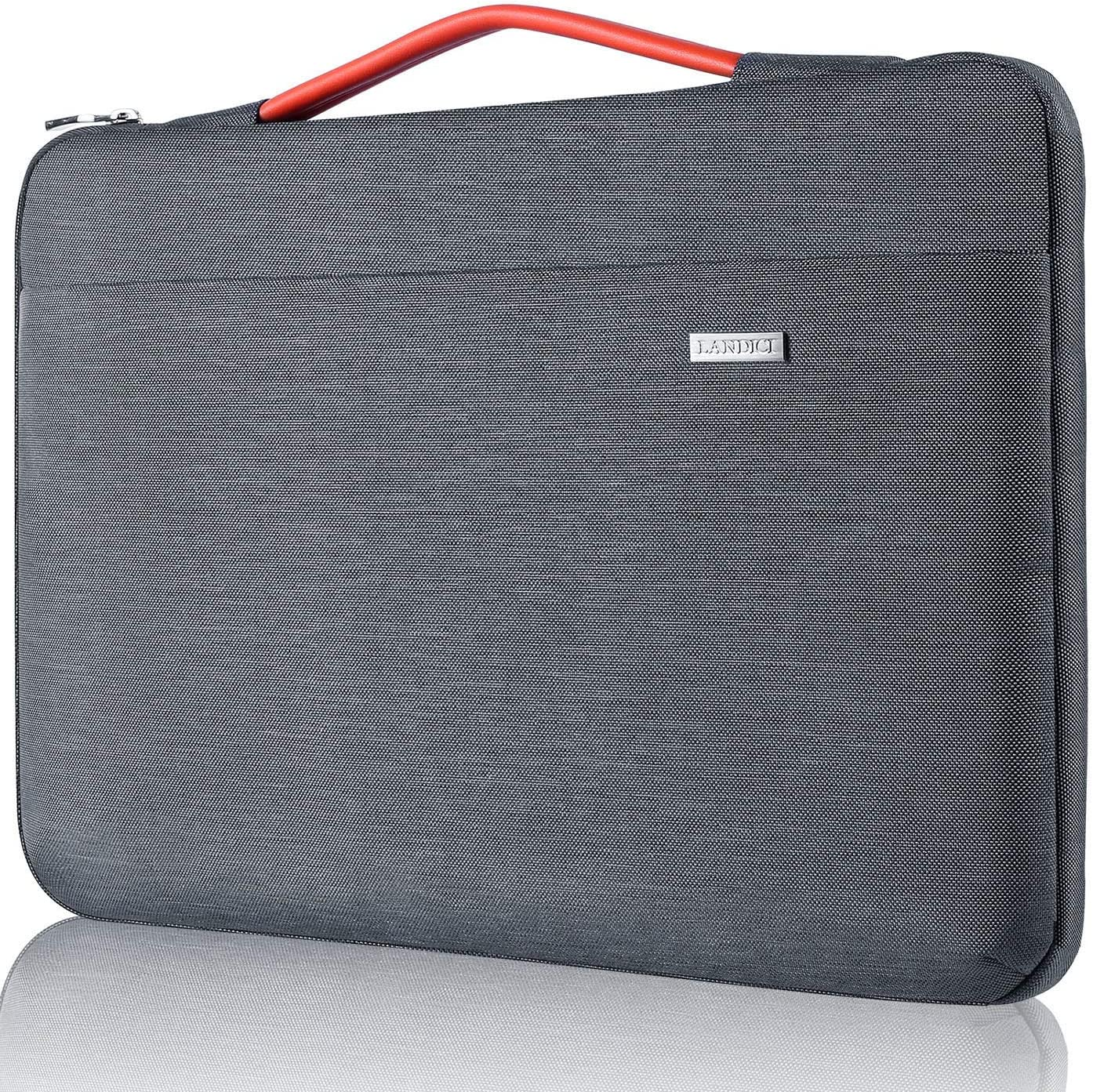 Landici Laptop Case Sleeve 14 15 15.6 Inch with Handle,360/°Protective Waterproof Computer Cover Bag Compatible with 16 MacBook Pro 2020,Surface Book 3//2,ASUS Acer Hp Chromebook-Red