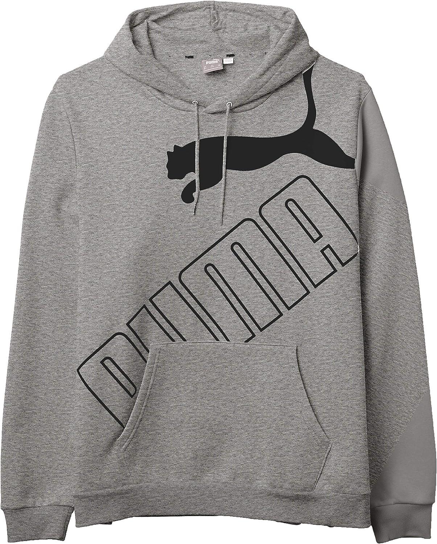 PUMA Men's Tall Big Logo Fleece Hoodie Bt
