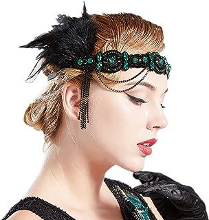 Best gatsby feather headband Reviews