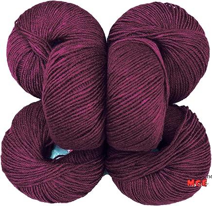 Vardhman Acrylic Knitting Wool, Pack Of 6 (Magenta) Baby Soft Wool Ball Hand Knitting Wool
